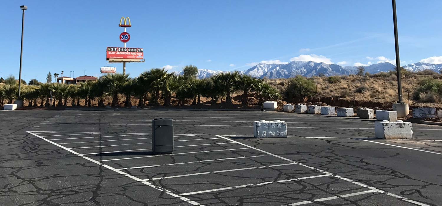 pump dump parking gas station mesquite nv